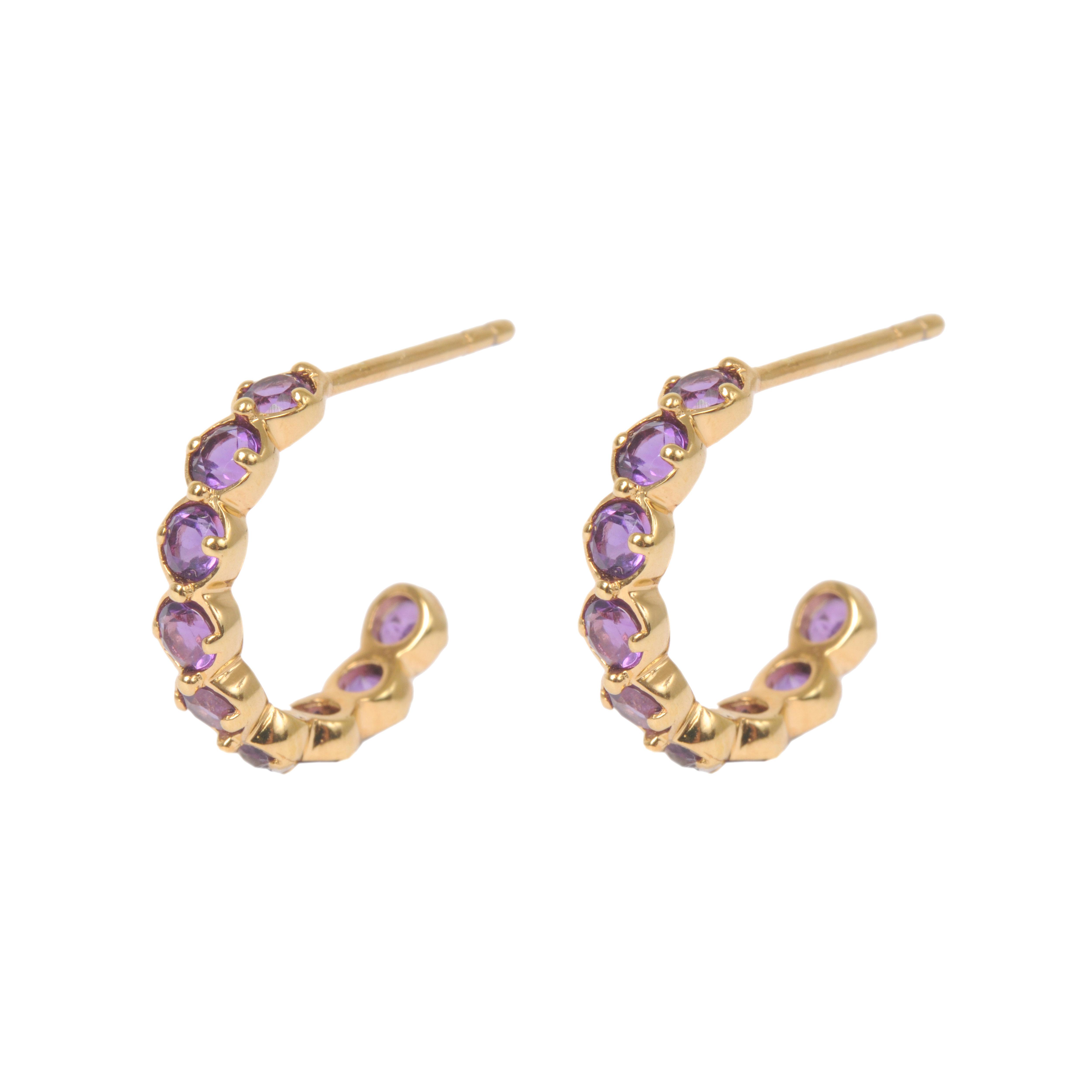 356d76693 Davina Combe | Amethyst Sienna Hoop Earrings