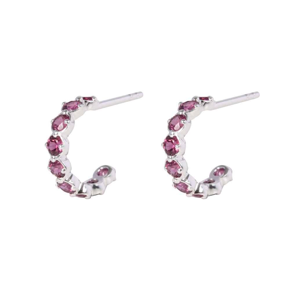 090a88fb0 Silver Rhodolite Sienna Hoop Earrings