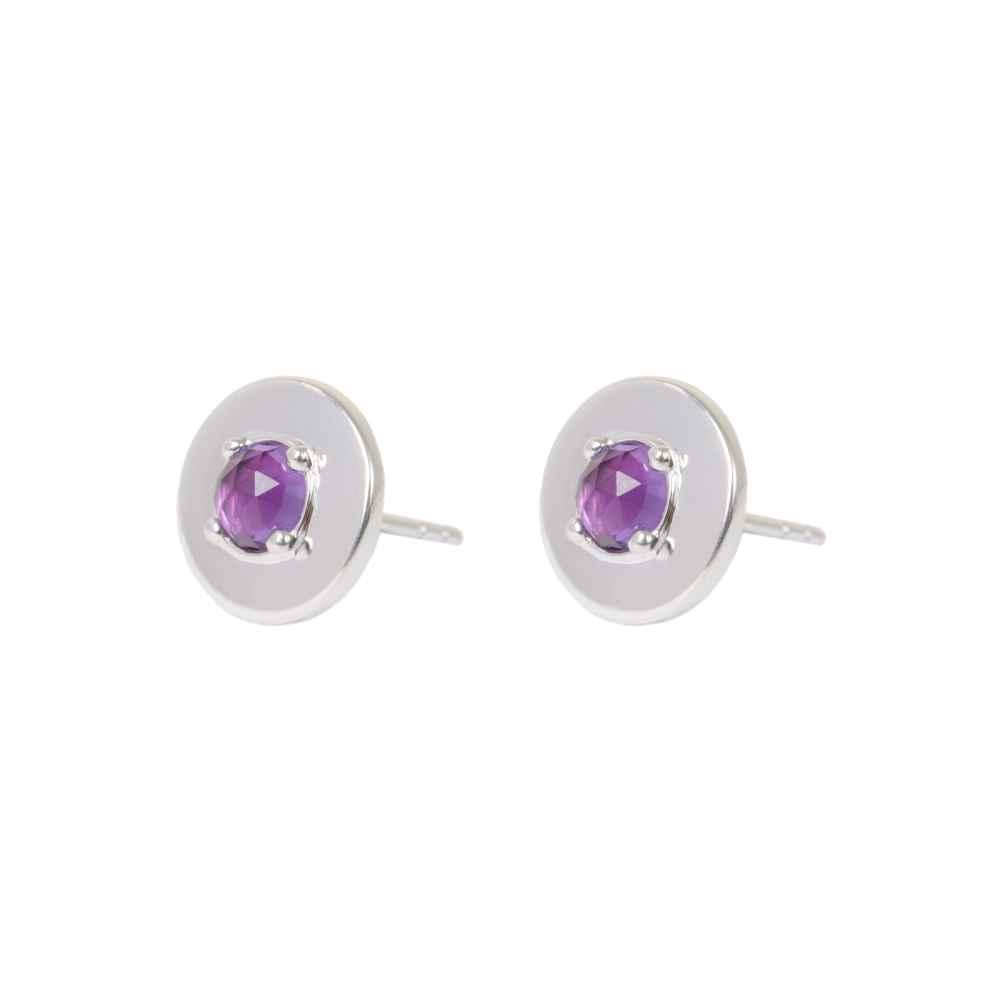 048c6a286 Silver Amethyst Sienna Stud Earrings