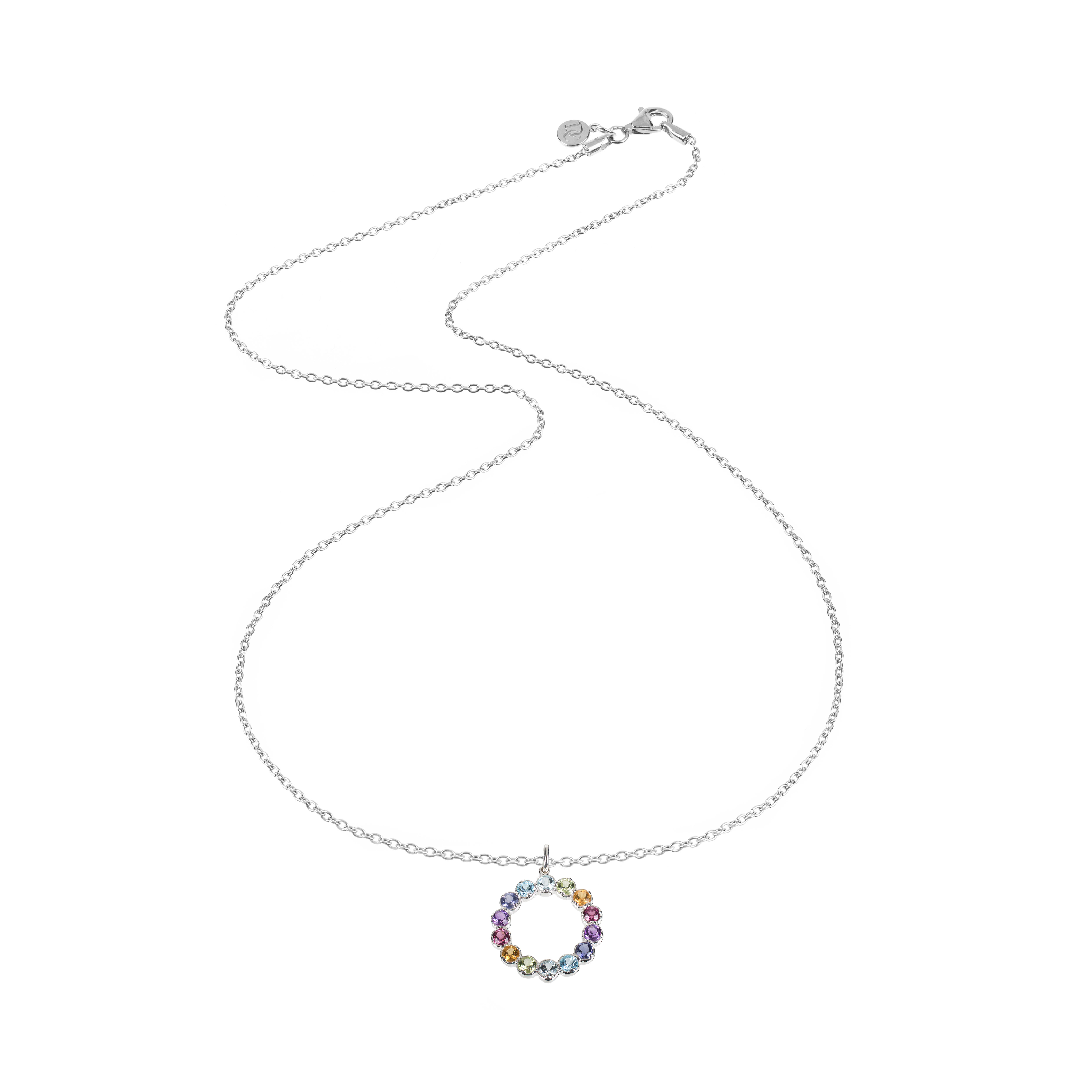 Rainbow Necklace with Silver